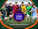 2017 ROAD TO WORLD CUP SOCCER STICKERS - 50 PACK DISPLAY 24/50/7