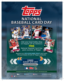 2017 Topps National Baseball Card Day Packs Hobby 1506