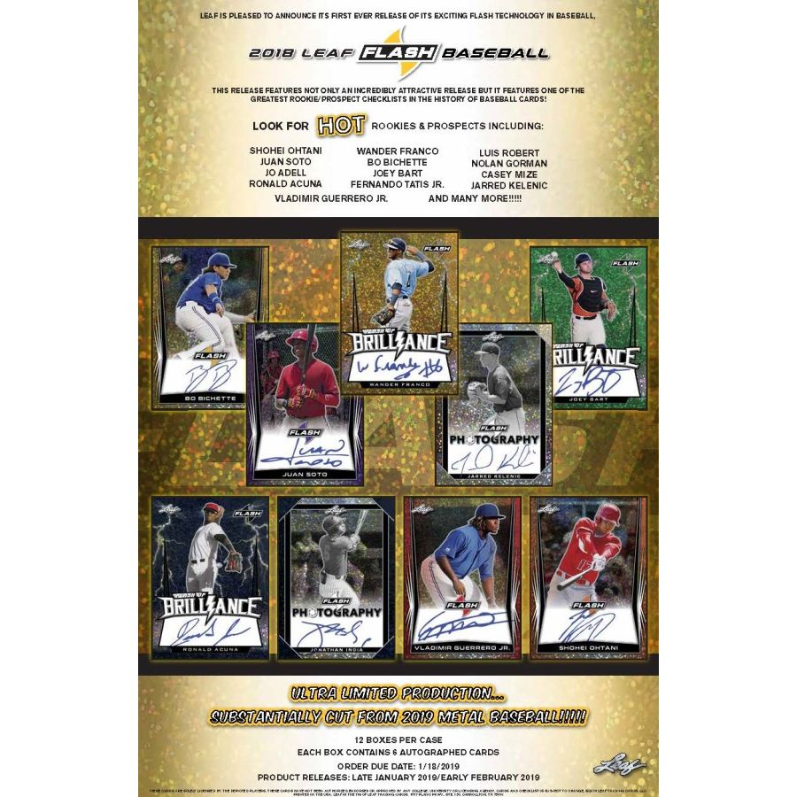 2018 Leaf Flash Baseball Hobby