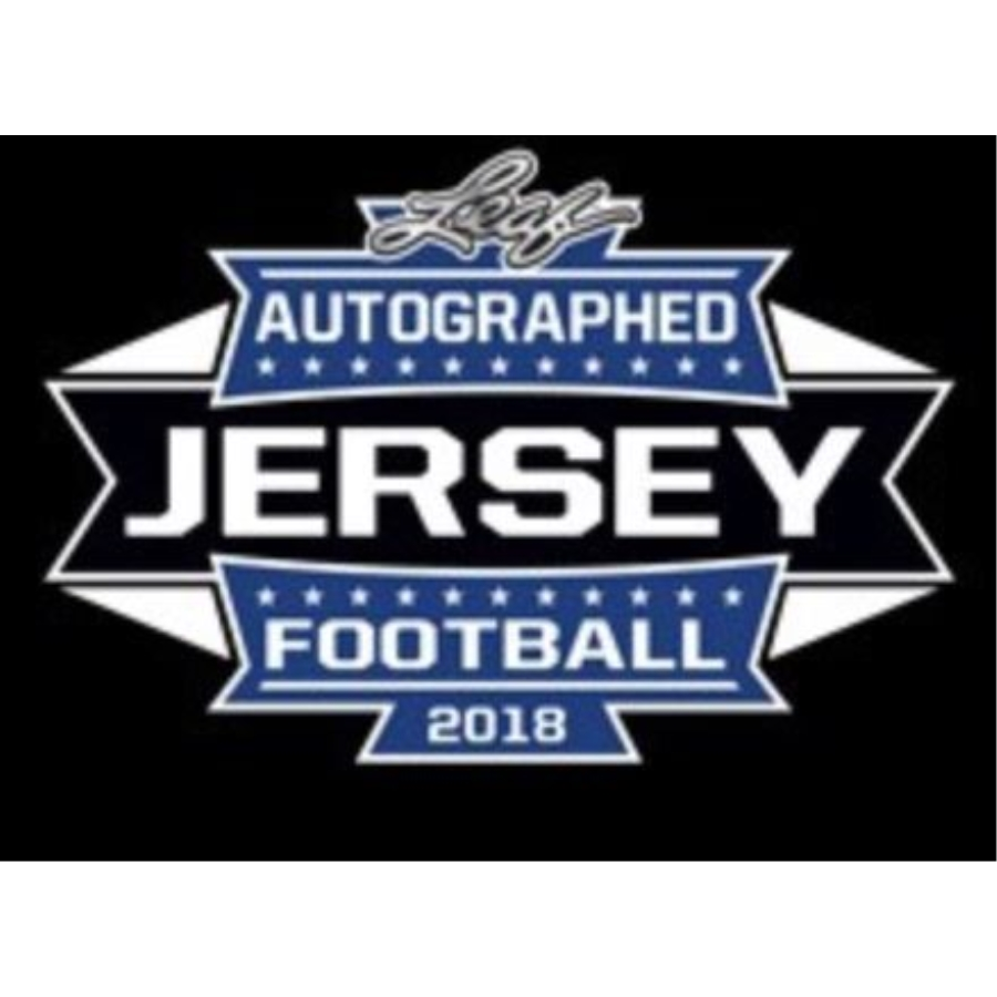 d595cdf39aa 2018 LEAF AUTOGRAPHED FOOTBALL JERSEY EDITION