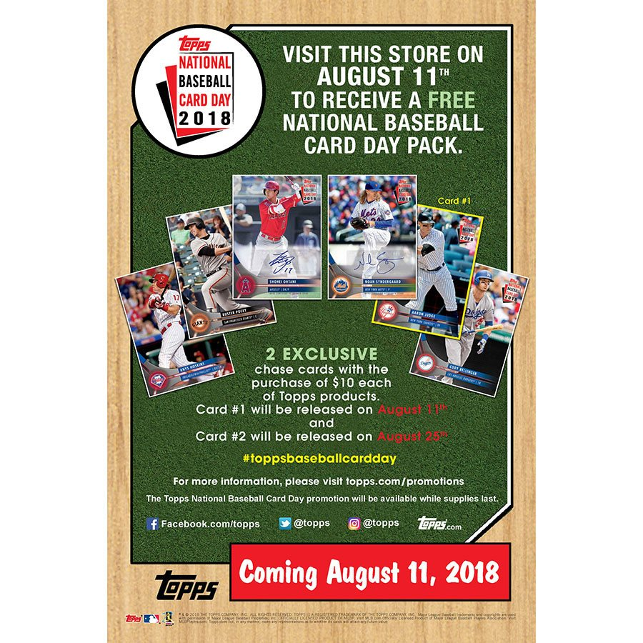 2018 Topps National Baseball Card Day Hobby