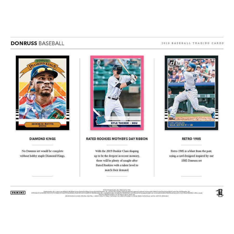 2019 Donruss Baseball Hobby 93516