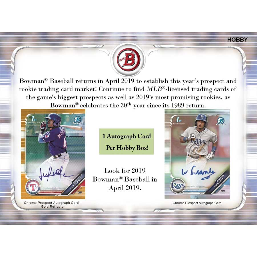 2019 Bowman Baseball Hobby