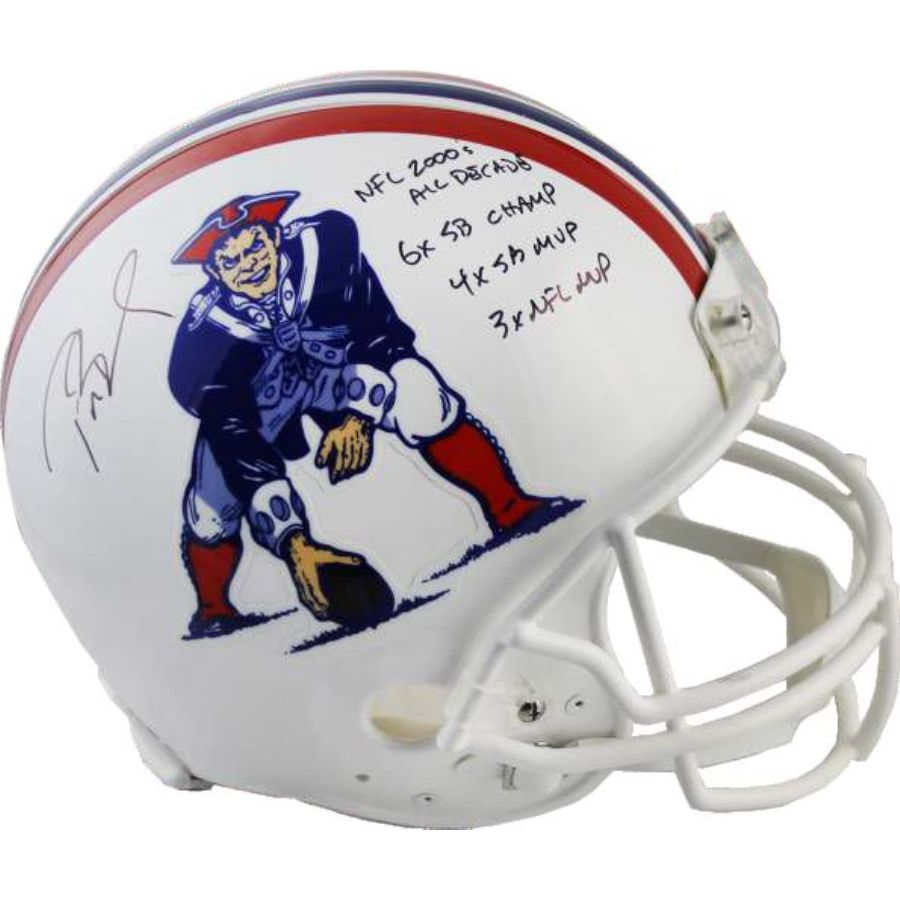 new styles 553cc b2628 2019 TRISTAR HIDDEN TREASURES - TOTALLY TOM BRADY AUTOGRAPHED FULL SIZE  AUTHENTIC HELMET