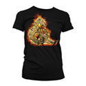 DUNGEONS & DRAGONS T-SHIRT: WOMEN - AMPERSAND ON FIRE