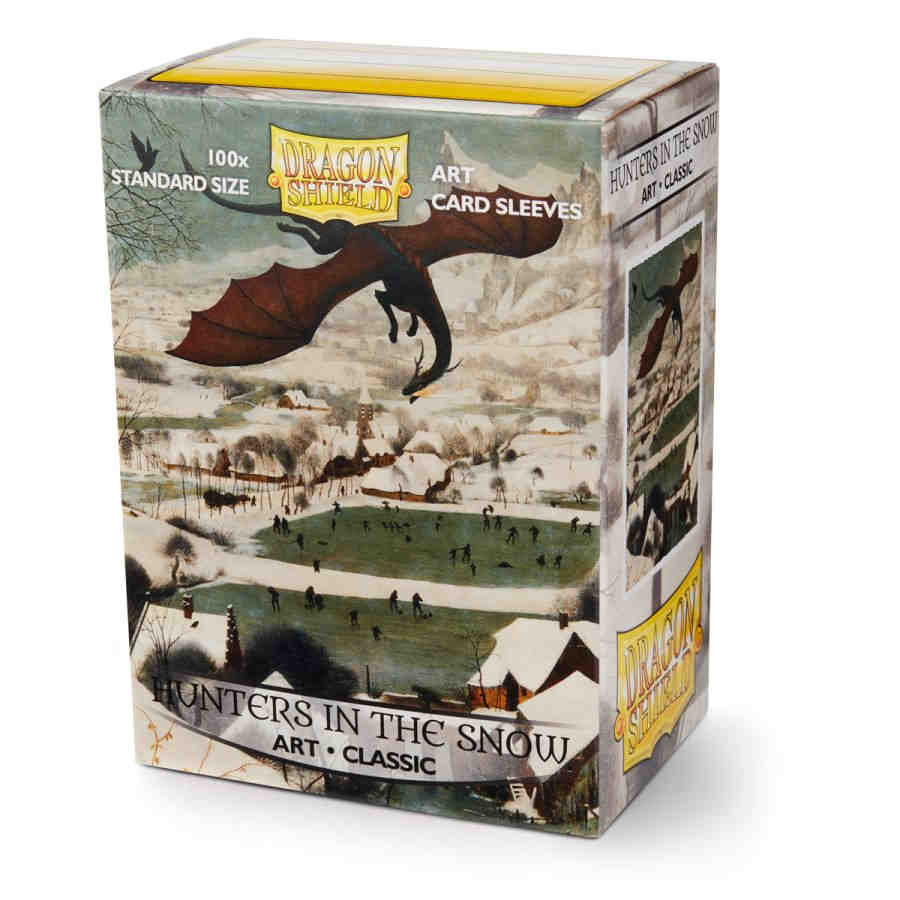 DRAGON SHIELD SLEEVES: ART CLASSIC HUNTERS IN THE SNOW (BOX OF 100) -  LIMITED EDITION