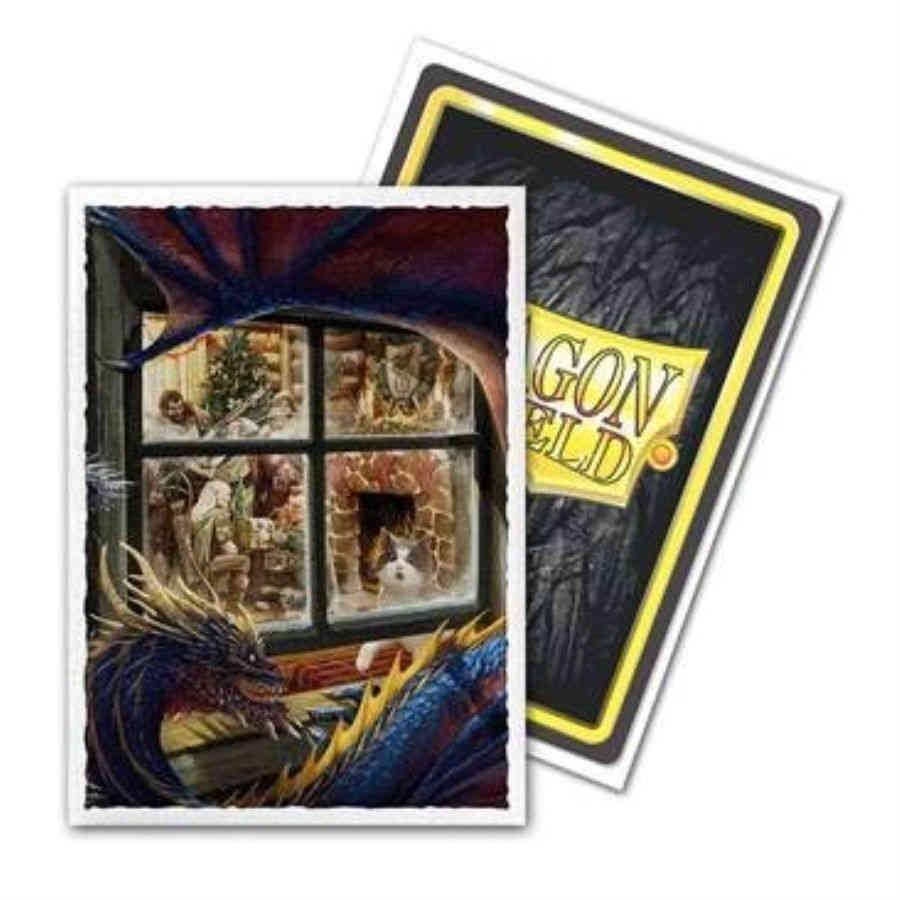 Christmas Dragon.Dragon Shield Sleeves Art Matte Christmas Dragon Box Of 100 Limited Edition