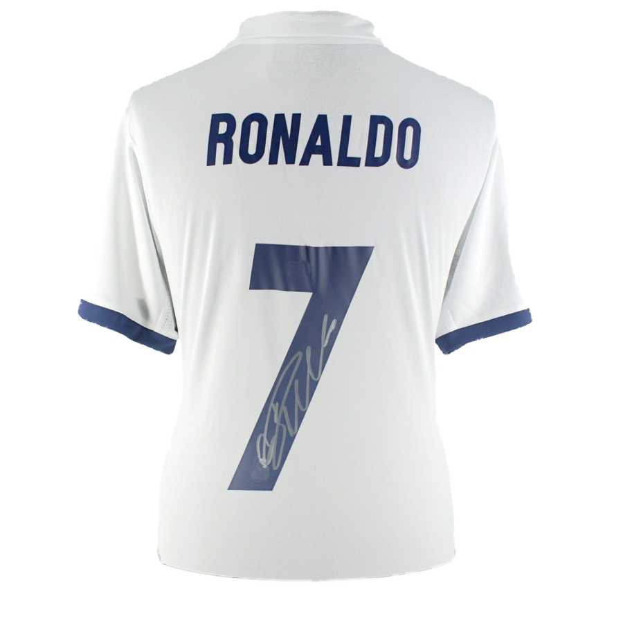 huge selection of 3a0d5 13c8e CRISTIANO RONALDO AUTOGRAPHED CUSTOM REAL MADRID REPLICA JERSEY
