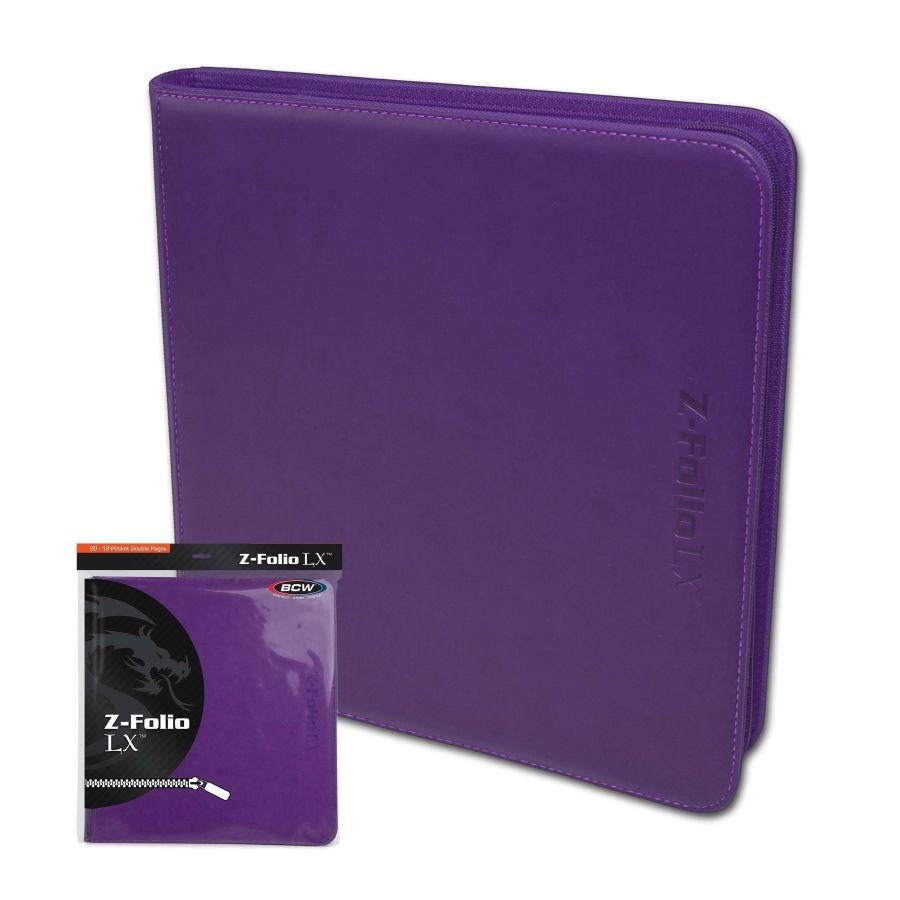 Purple BCW/12 Pocket Z-Folio LX Game