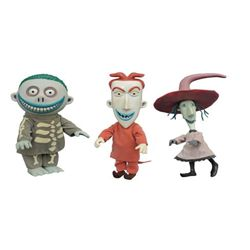 deluxe cloth doll the nightmare before christmas lock shock and barrel 3 pack