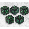 ARKHAM HORROR DICE SET: BLACK