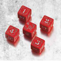 ARKHAM HORROR CURSED DICE SET: RED