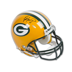 new styles 9a606 d52e9 BRETT FAVRE AUTOGRAPHED GREEN BAY PACKERS AUTHENTIC HELMET