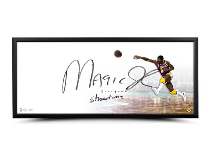 check out 55ffa 668b7 MAGIC JOHNSON AUTOGRAPHED & INSCRIBED