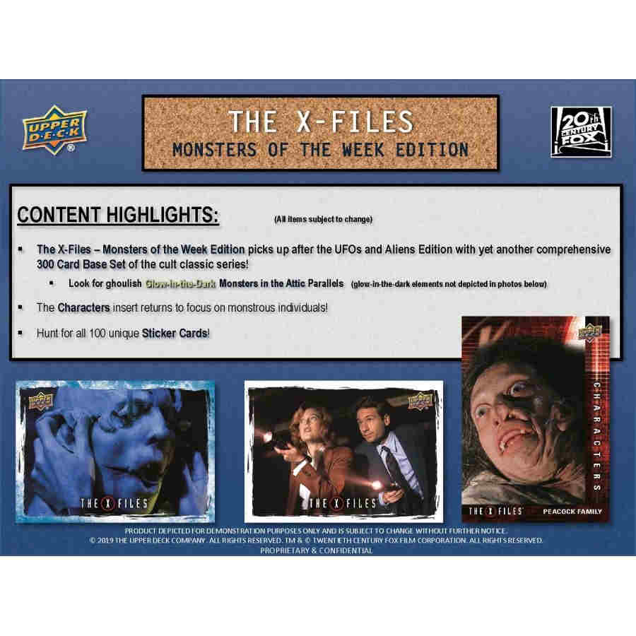 UPPER DECK THE X-FILES MONSTERS OF THE WEEK EDITION (2019) - HOBBY