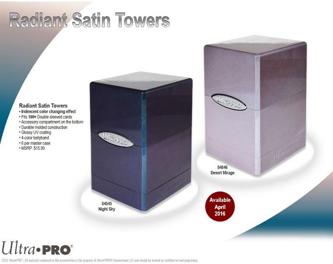 Ultra Pro Satin Tower Deck Box PUMPKIN New Magic Pokemon Vanguard Dragon Ball