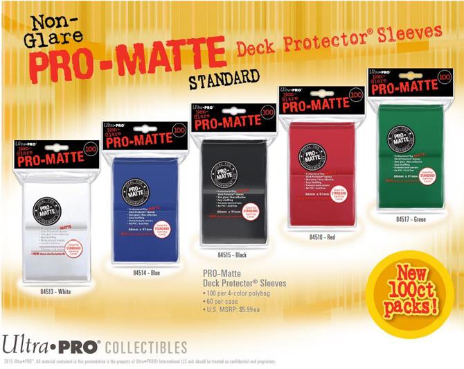 100 Ultra Pro BLACK PRO MATTE DECK PROTECTORS SLEEVES Standard Pokemon Magic MTG