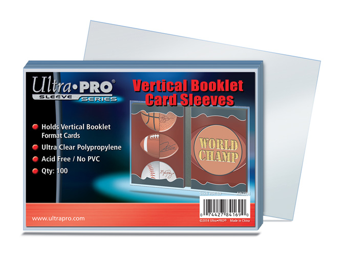 ULTRA PRO SOFT SLEEVE VERTICAL BOOKLET 84169