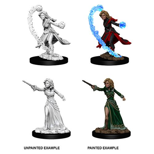 PATHFINDER: DEEP CUTS UNPAINTED MINIATURES - FEMALE HUMAN WIZARD