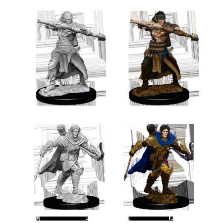 pathfinder deep cuts unpainted miniatures male half elf ranger
