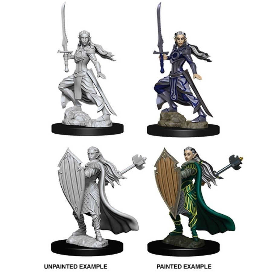 DUNGEONS AND DRAGONS: NOLZUR'S MARVELOUS UNPAINTED MINIATURES - FEMALE ELF  PALADIN