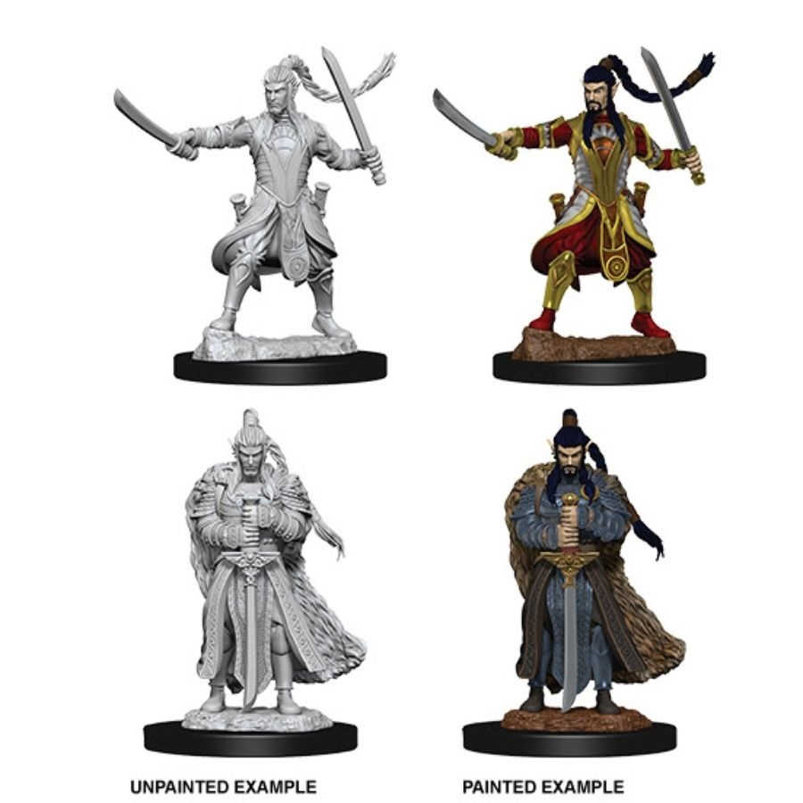 DUNGEONS AND DRAGONS: NOLZUR'S MARVELOUS UNPAINTED MINIATURES - MALE ELF  PALADIN