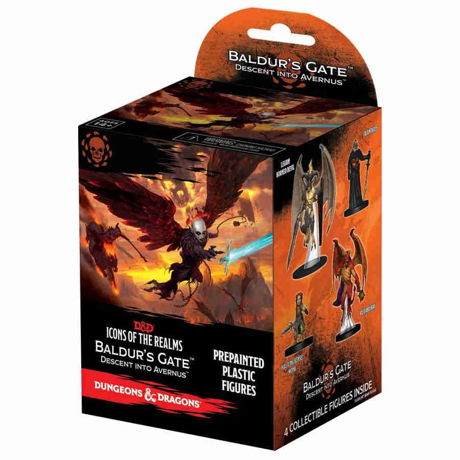 DUNGEONS AND DRAGONS: ICONS OF THE REALMS MINIATURES #12: DESCENT INTO  AVERNUS BRICK (8CT)
