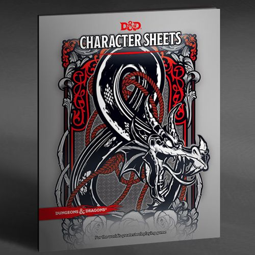 DUNGEONS AND DRAGONS 5E: CHARACTER SHEETS AND FOLIO (SET OF 24 SHEETS)