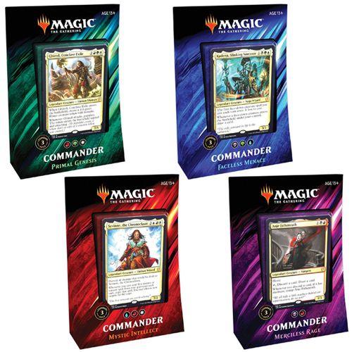 MAGIC THE GATHERING CCG: COMMANDER (2019) - INNER CARTON OF 4 DECKS